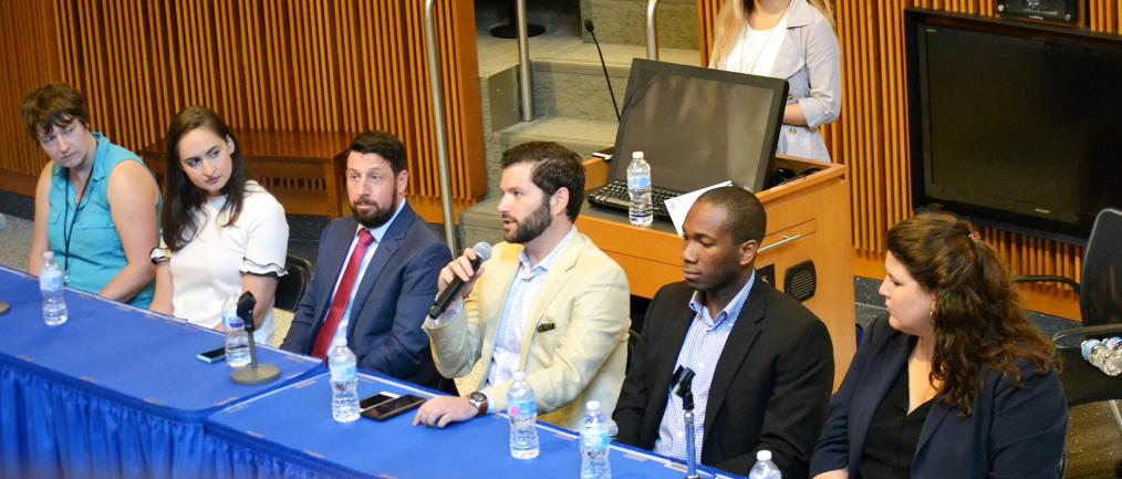 Our M.S. BHTA alumni, David Stiefel, shares his thoughts and advice during our panel.