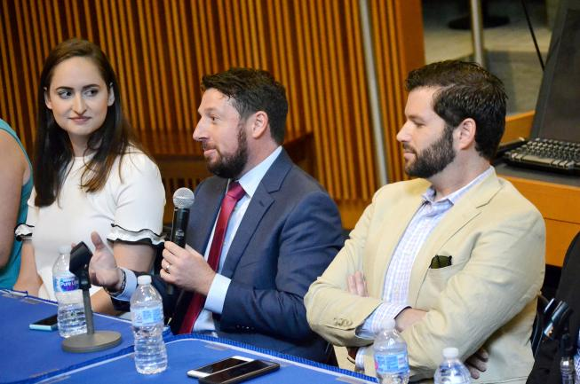 Our M.S. BHTA alumni, Jason Soules, shares his thoughts and advice during our panel.