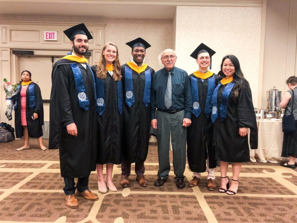 M.S. BSPA Class of 2018 with our very own, Dr. Richard Calderone, Chair of the Department and Director of the M.S. BSPA Program