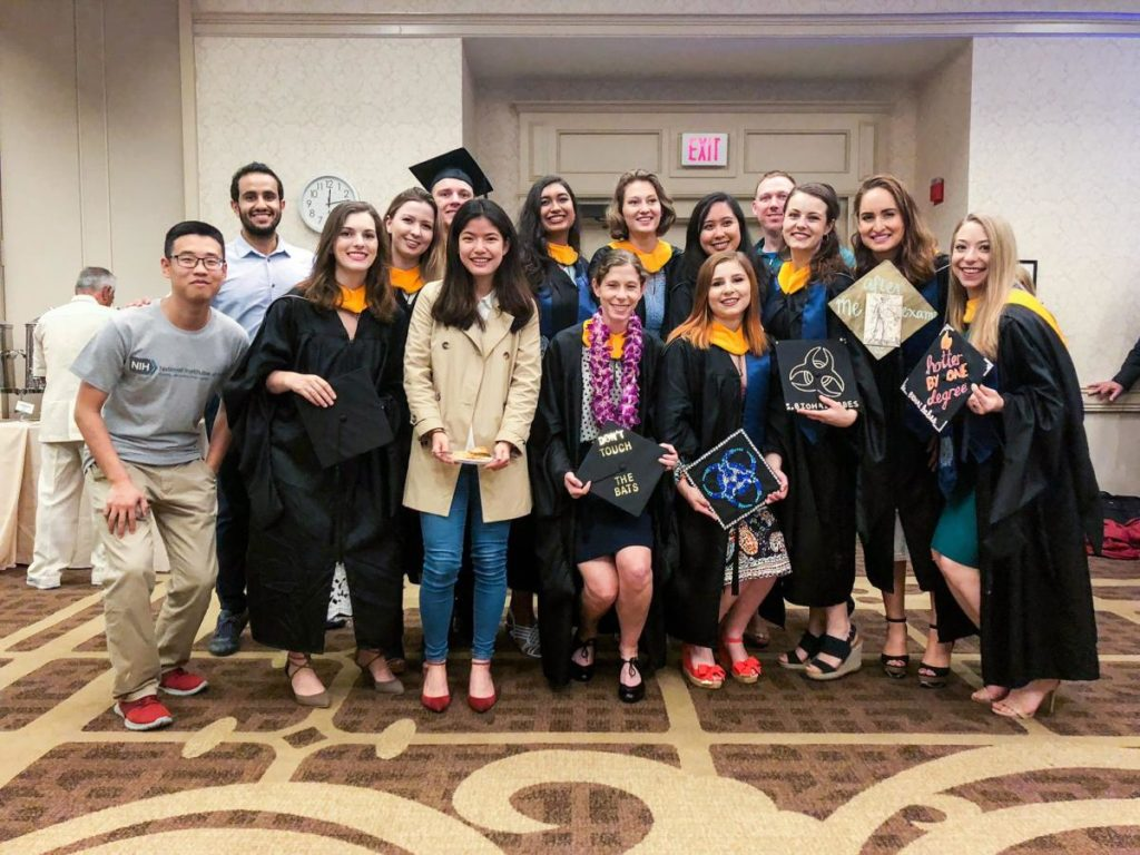 M.S. BHTA Class of 2018 with classmates from the Department of Microbiology and Immunology